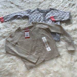 2 little girls  Can & Jack XS 4/5 sweaters